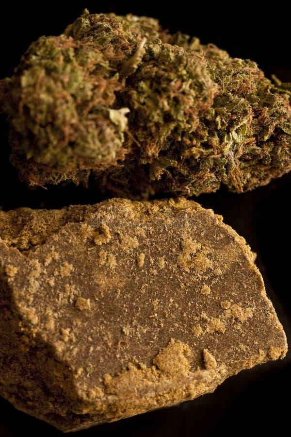 Marijuana ed hashish fotografia stock