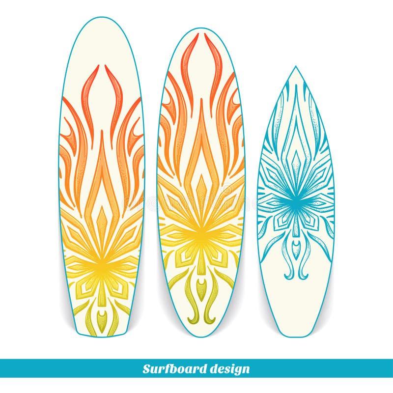 Marijuana för surfingbrädadesignabstrakt begrepp royaltyfri illustrationer