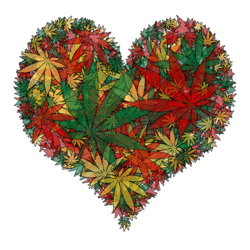 Free Marijuana Heart Stock Image - 47324851