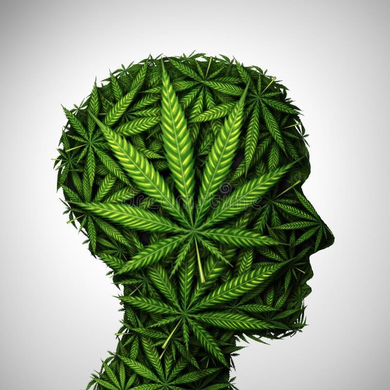 Marijuana Herb Symbol medicinal principal ilustração stock