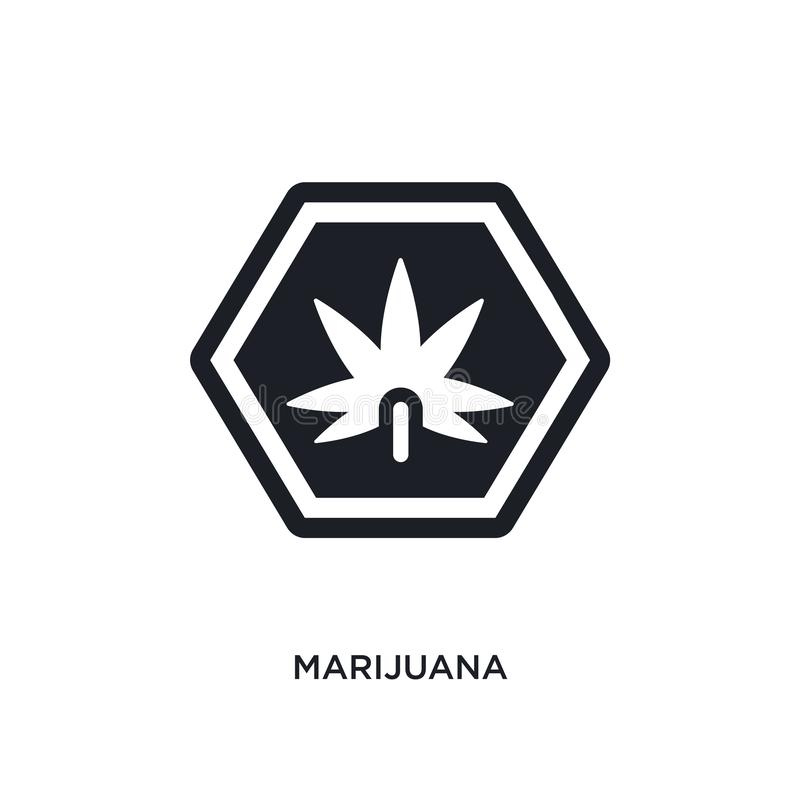 marijuana isolated icon. simple element illustration from signs concept icons. marijuana editable logo sign symbol design on white vector illustration
