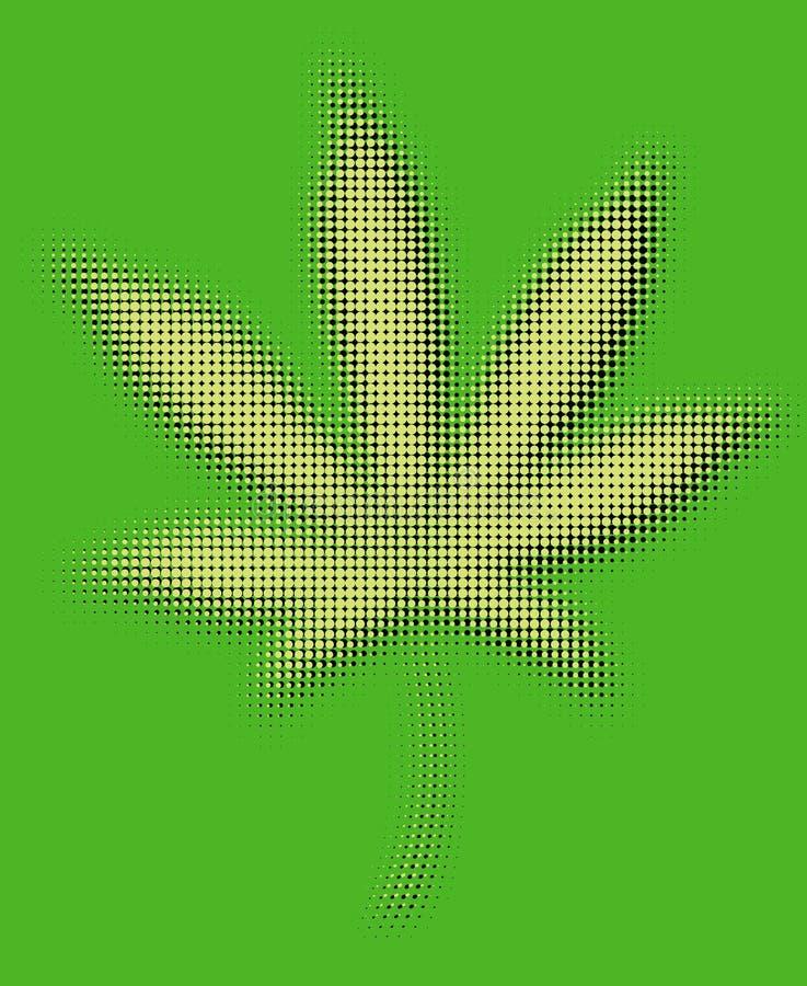 Marijuana leaf stock illustration