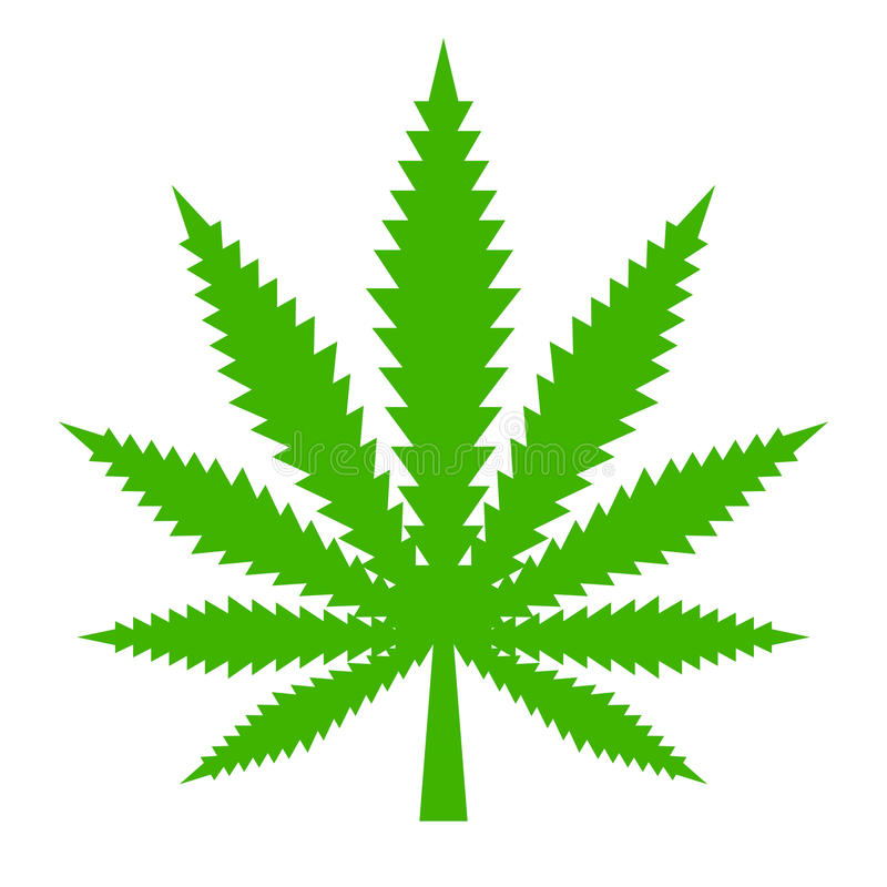 Marijuana leaf vector icon. Illustration stock illustration