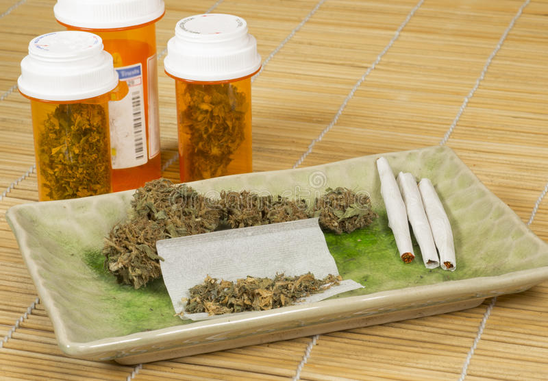 Marijuana medica 6 fotografia stock libera da diritti