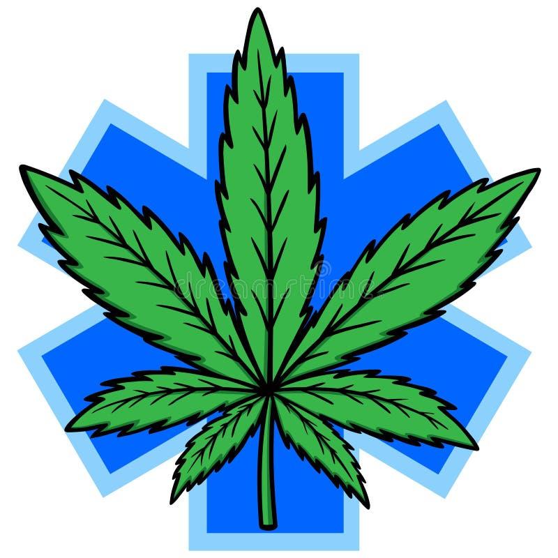 Marijuana medica royalty illustrazione gratis