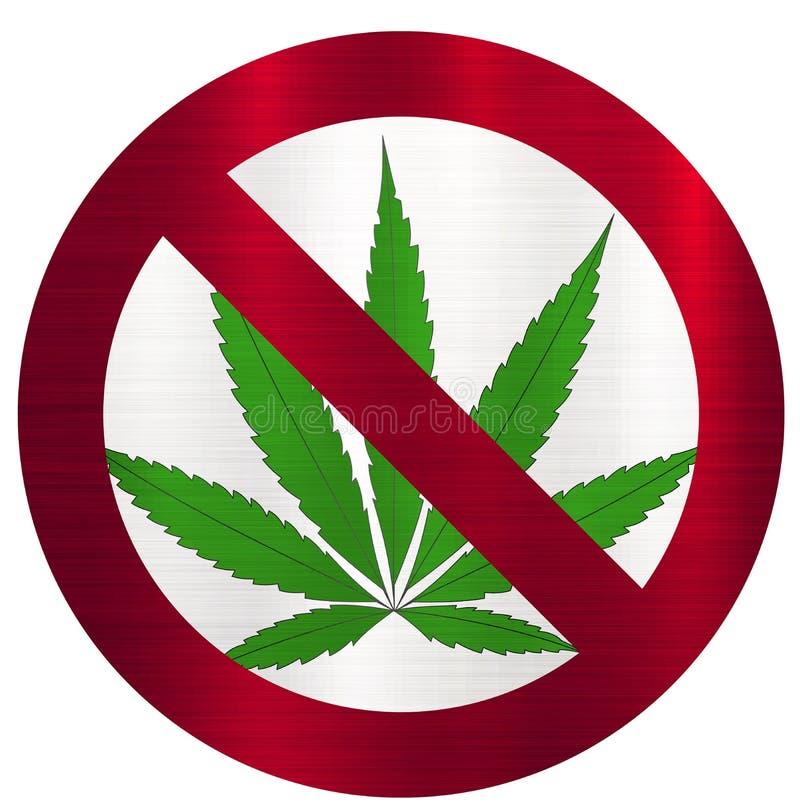 Marijuana non-fumeurs interdite illustration stock