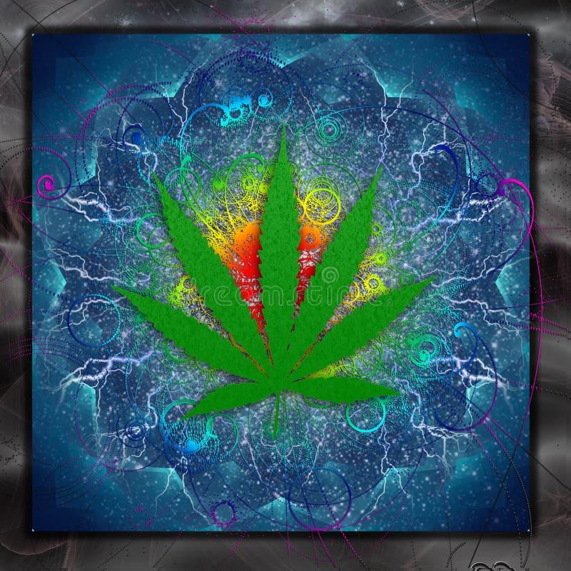Marijuanakonst royaltyfri illustrationer