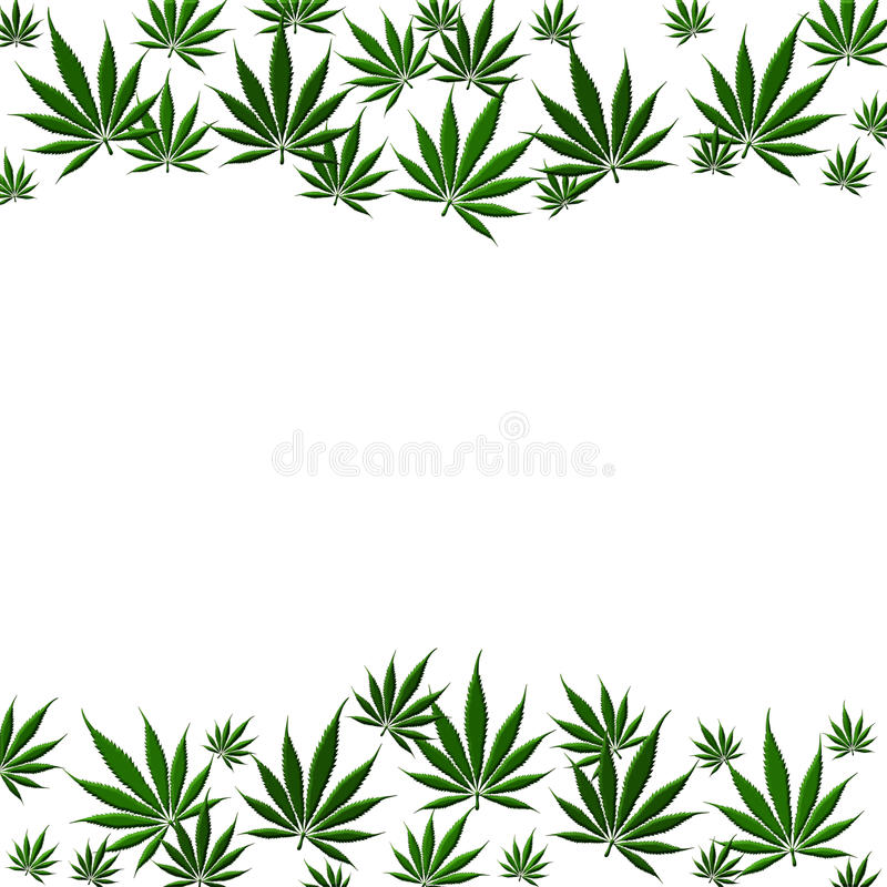 MarijuanaLeafbakgrund vektor illustrationer