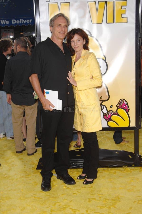 Marilu Henner, Michael Brown, Simpsons stock foto