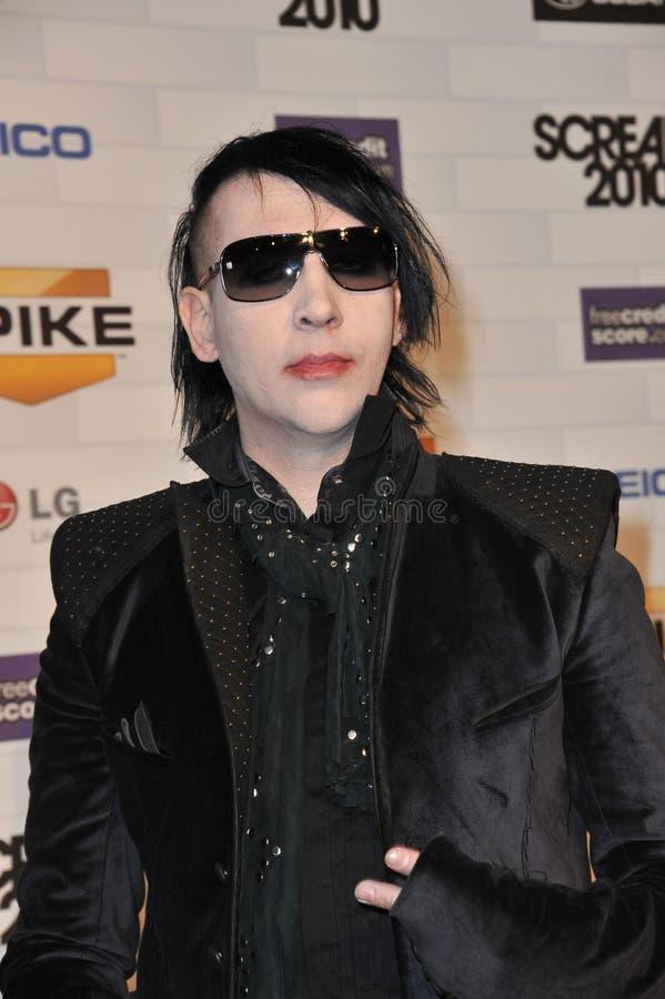 Marilyn Manson fotografia stock libera da diritti