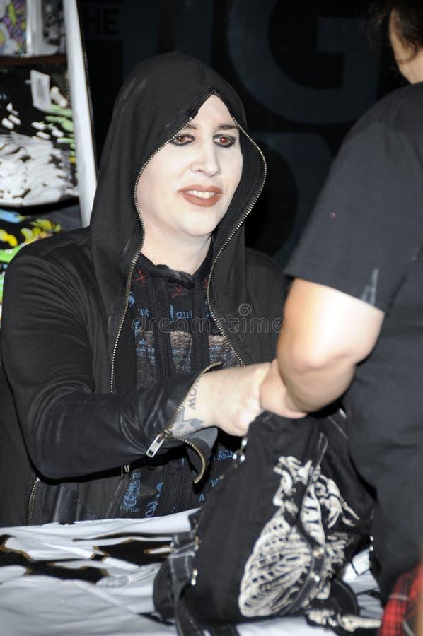 Marilyn Manson apparaissant dans le thème d'actualité photographie stock libre de droits