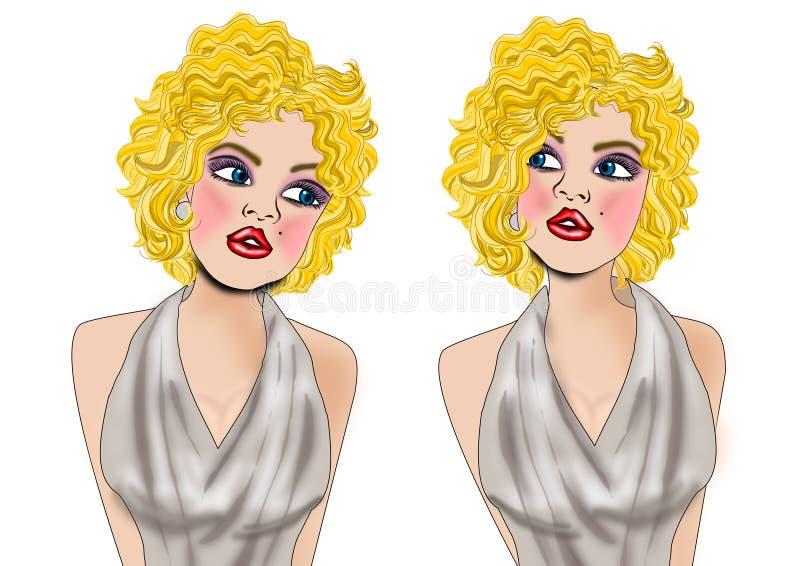 Marilyn Monroe ilustração royalty free
