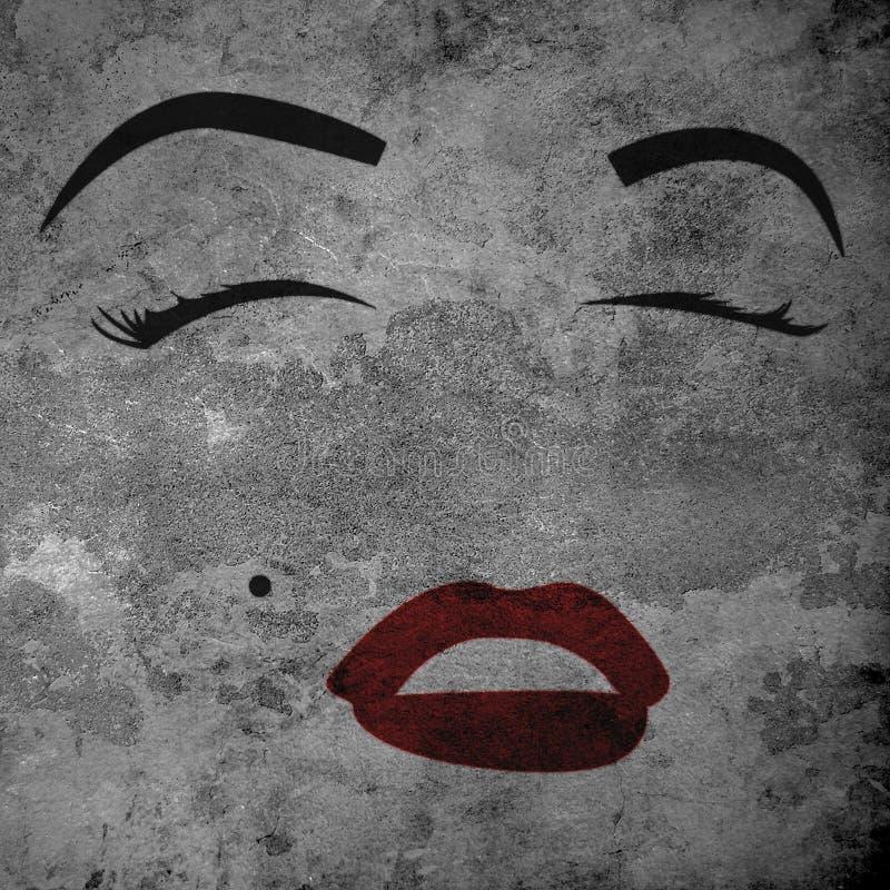 Marilyn Monroe stock de ilustración