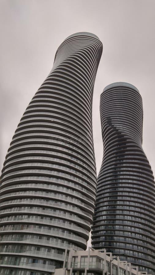 Marilyn Monroe Buildings em Mississauga, Ontário Canadá foto de stock royalty free
