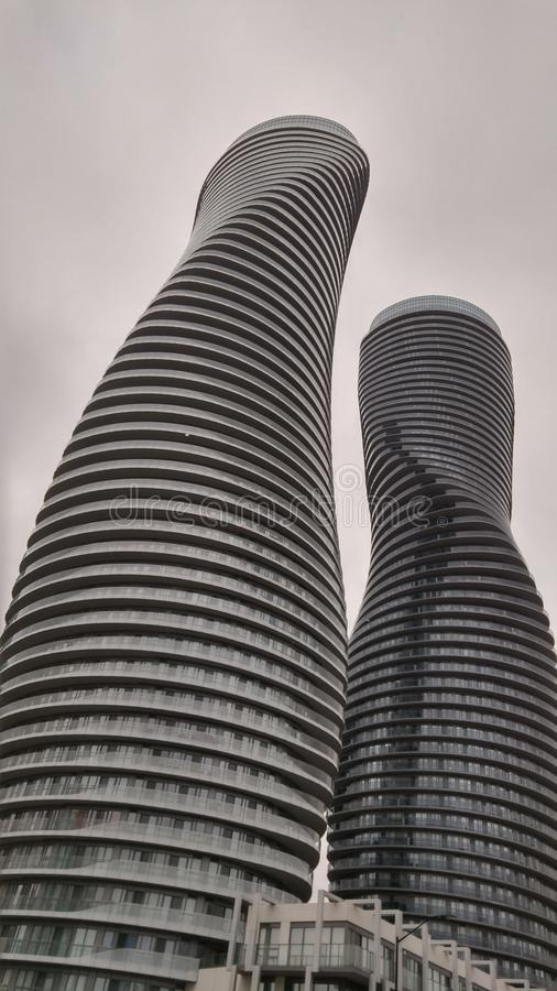 Marilyn Monroe Buildings in Mississauga, Ontario Canada royalty free stock photo