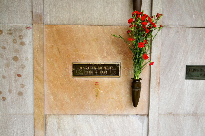 Marilyn Monroe crypt w Los Angeles obrazy stock