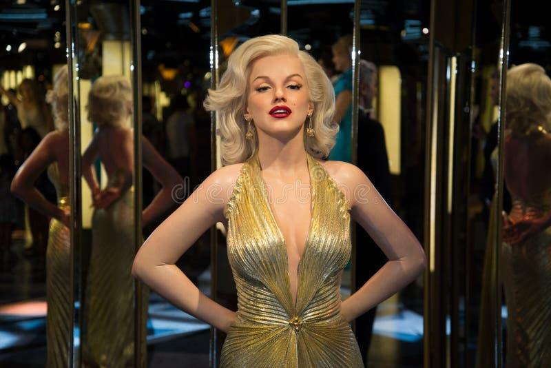 Marilyn Monroe dans le musée de Grevin des chiffres de cire à Prague image stock
