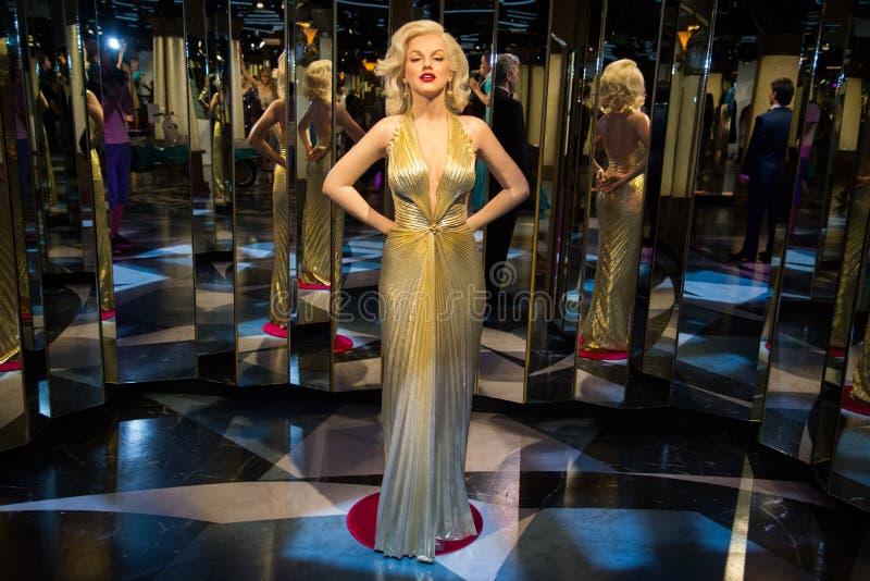 Marilyn Monroe dans le musée de Grevin des chiffres de cire à Prague photographie stock