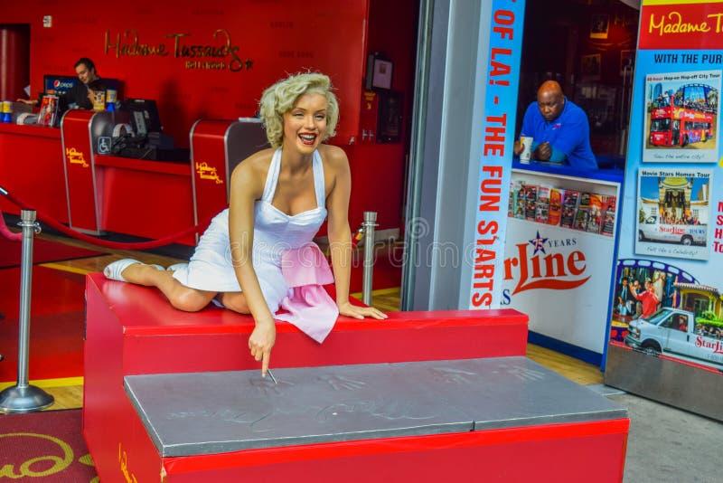 Marilyn Monroe, de Hollywood-Gang van Bekendheidsrek voor 15 blokken van stoep op Hollywood-Boulevard Mevrouw Tussauds Hollywood  royalty-vrije stock afbeeldingen