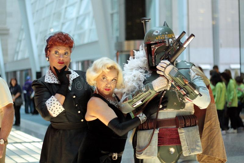 Marilyn Monroe en Betty stock afbeelding