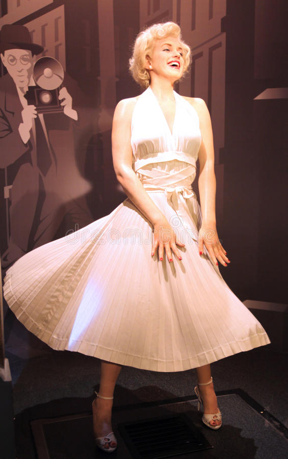 Marilyn Monroe en señora Tussaud imagenes de archivo