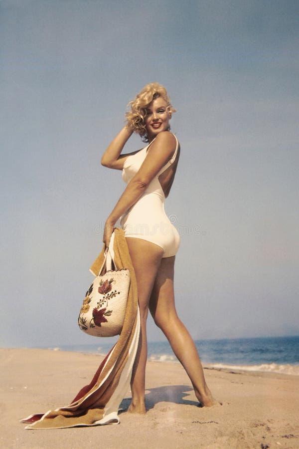 Marilyn Monroe Fotograaf Sam Shaw royalty-vrije stock fotografie