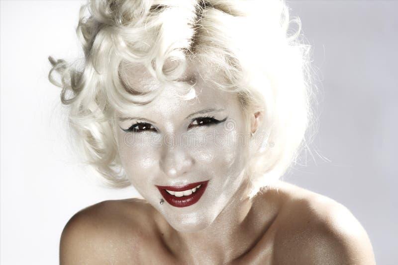 Marilyn Monroe. High key girl woman portrait Marilyn Monroe stock photo