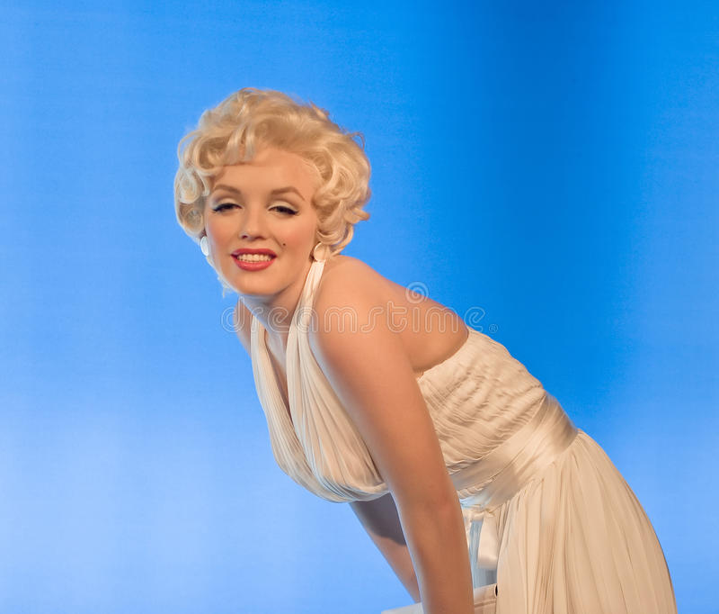 Marilyn Monroe-Madame tussauds Museum Berlin lizenzfreies stockbild