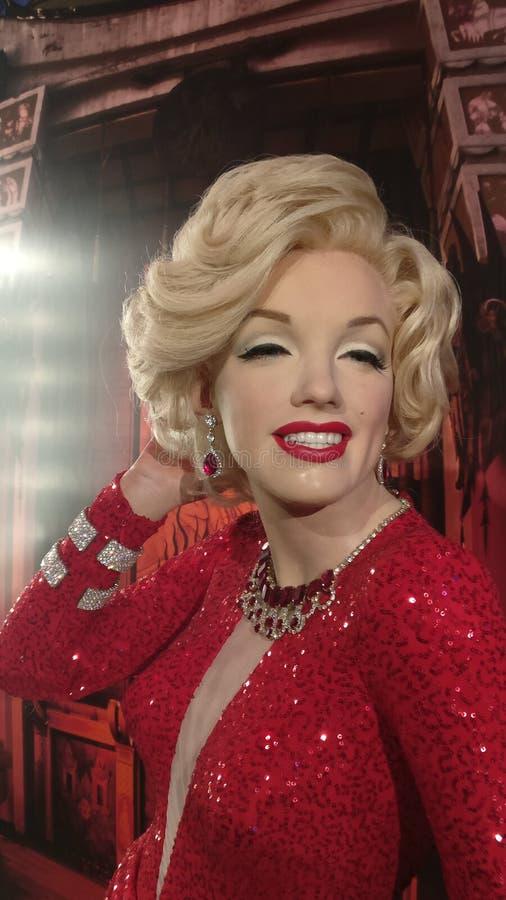 Marilyn Monroe na senhora Tussauds fotografia de stock