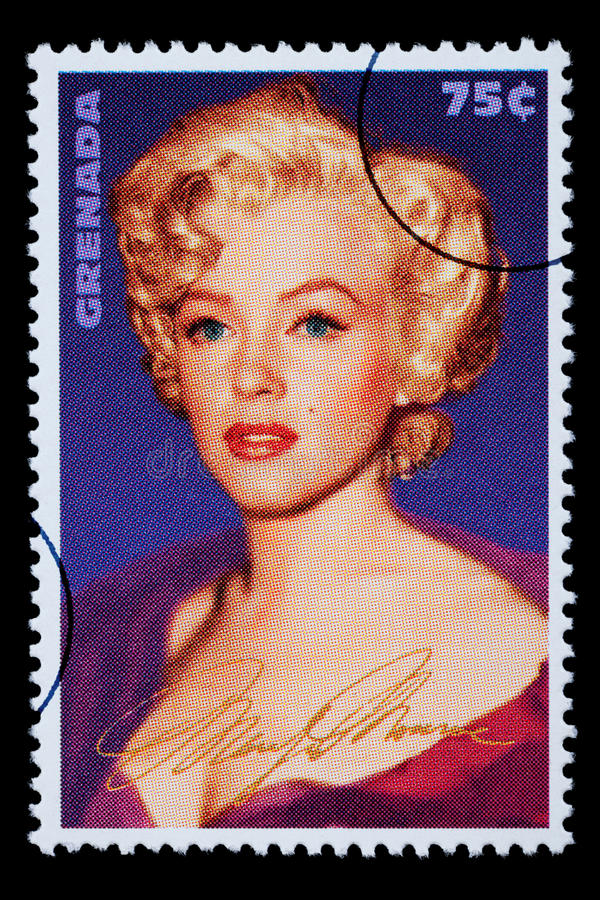 Marilyn Monroe Postage Stamp vector illustration