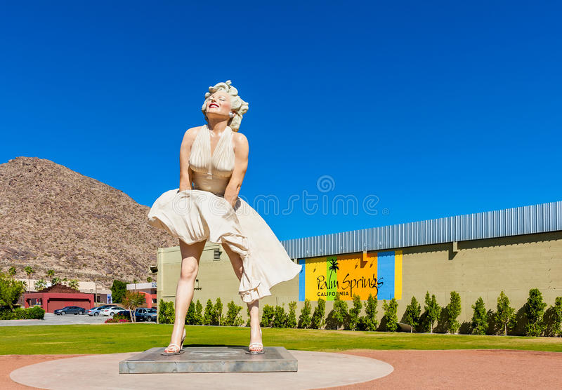 Marilyn Monroe sculpture in Palm Springs California USA stock photography