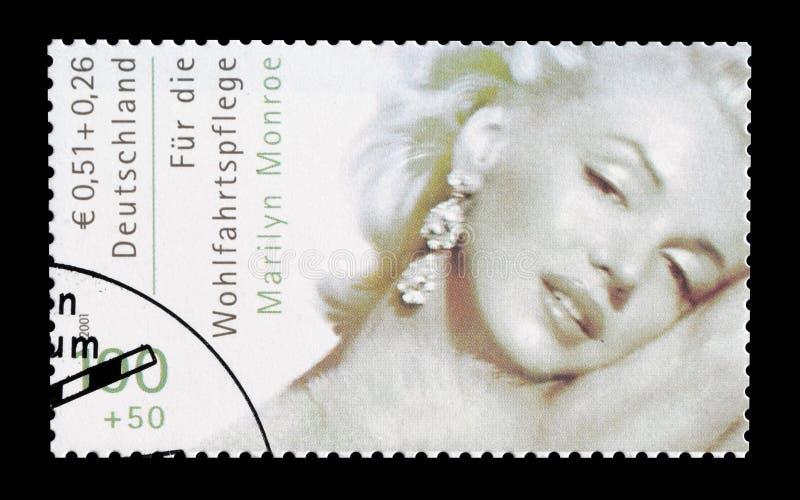 Marilyn Monroe sur le timbre-poste photographie stock libre de droits