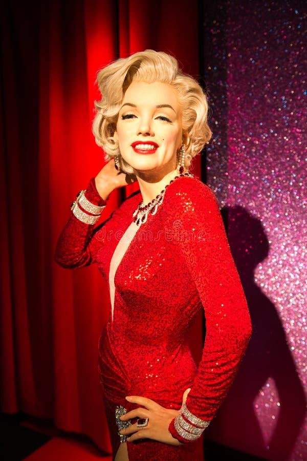Marilyn Monroe vaxdiagram på madamen Tussauds San Francisco royaltyfri fotografi