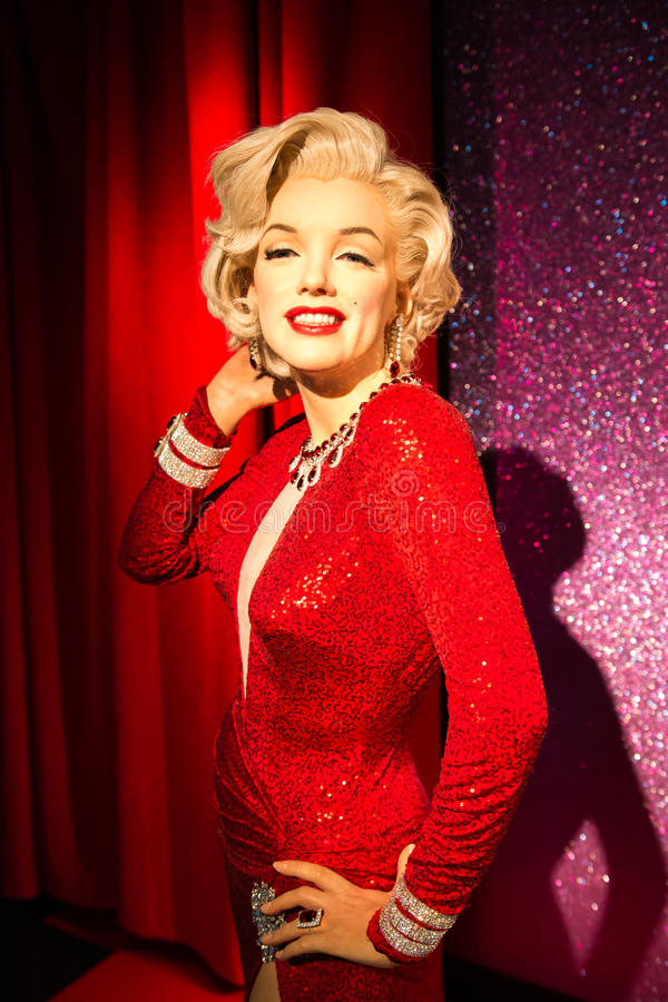 Free Marilyn Monroe Wax Figure At Madame Tussauds San Francisco Royalty Free Stock Photography - 45650087