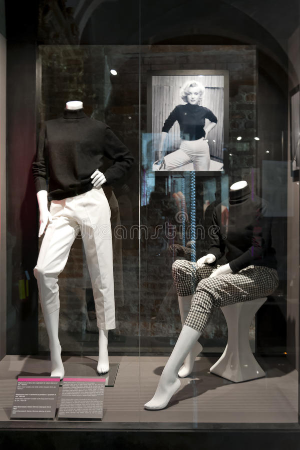 """Marilyn Monroe - The woman behind the myth. The exhibition """"Marilyn Monroe - The woman behind the myth,"""" running to September 19 at Palazzo Madama in stock images"""