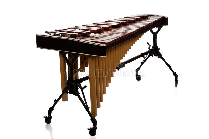 Marimba sur le blanc photos stock