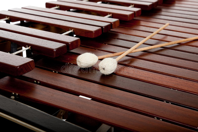 Marimba on White stock photo