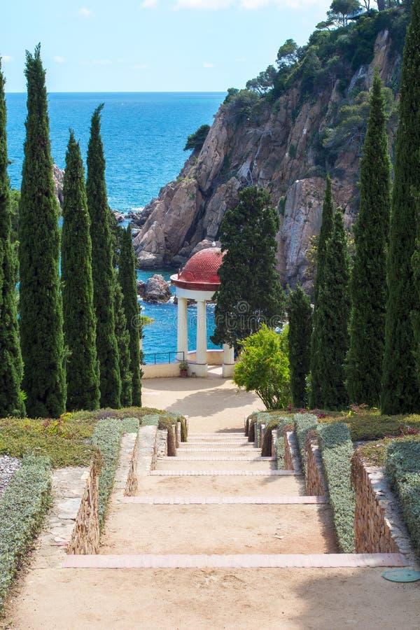 Marimurtra ogród botaniczny przy Blanes blisko Barcelona, Hiszpania zdjęcie royalty free