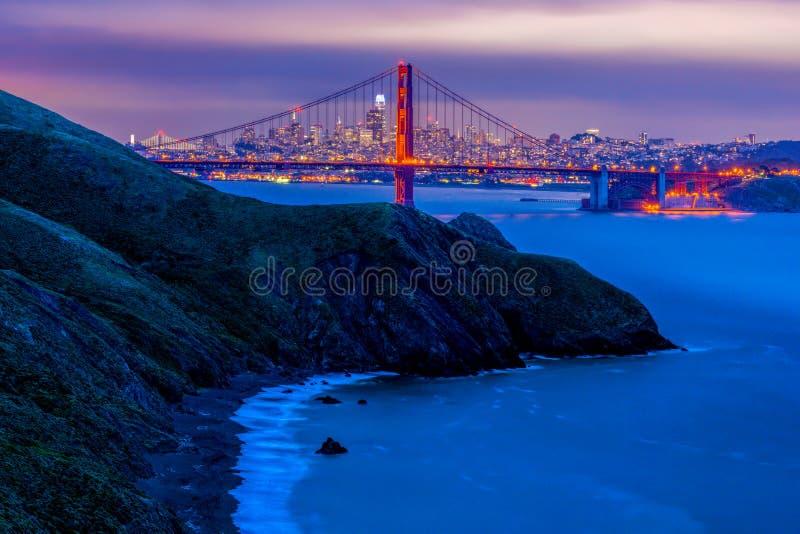 Marin County California-mening van de baai van San Francisco stock afbeeldingen