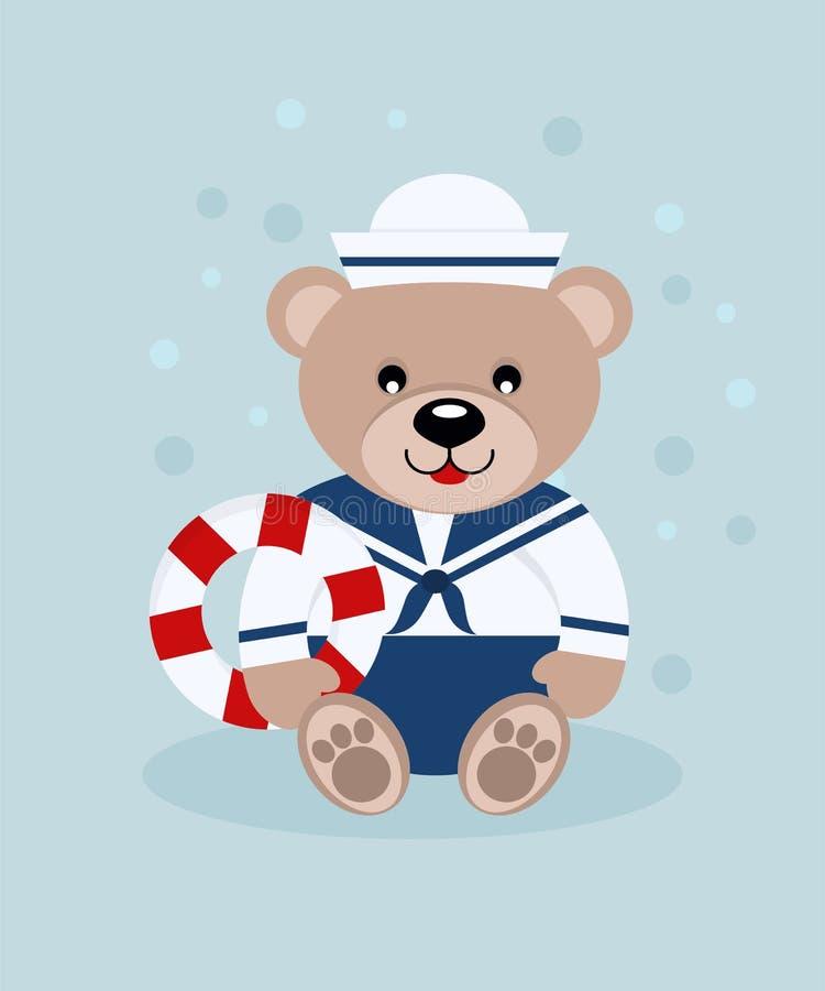 marin d'ours illustration de vecteur