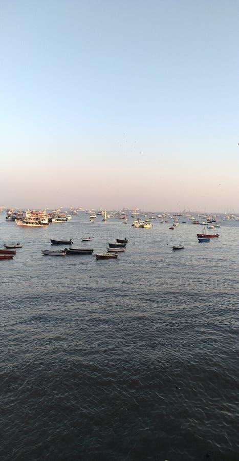 Marin- drevmumbai port Indien Arabian Sea arkivbilder
