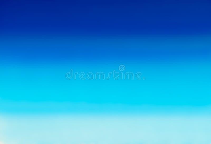 Marin- eller marinblå bakgrund för vattenfärglutningpåfyllning Akvarellfläckar Abstrakt begrepp målad mall med slät oskarp textur arkivfoton