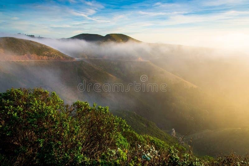 Marin Headland en niebla foto de archivo libre de regalías