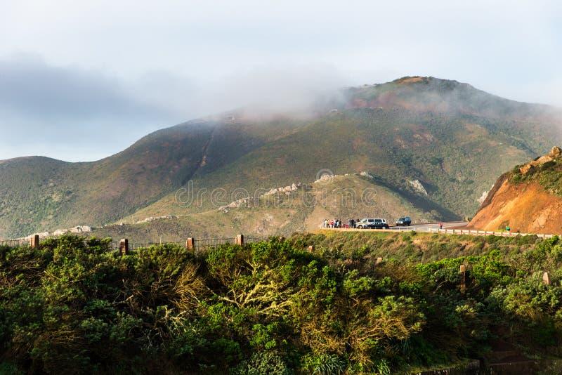 Marin Headland en niebla fotografía de archivo libre de regalías