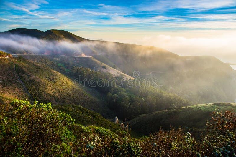 Marin Headland en niebla foto de archivo