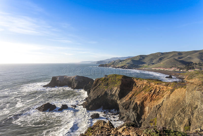 Marin Headlands afternoon. Image of the Marin Headlands and Rodeo Beach royalty free stock photo