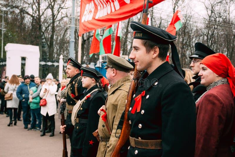 Marin militaire au festival de la grande révolution d'octobre photographie stock libre de droits