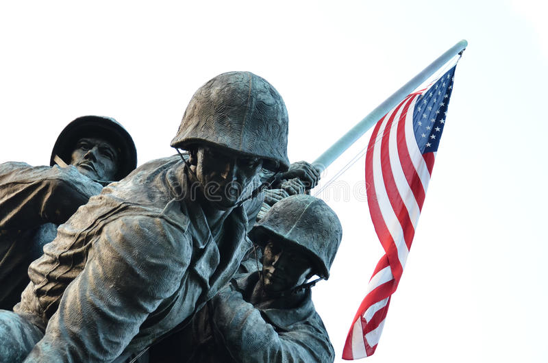 marin- minnesmärke för kårdc oss USA washington fotografering för bildbyråer