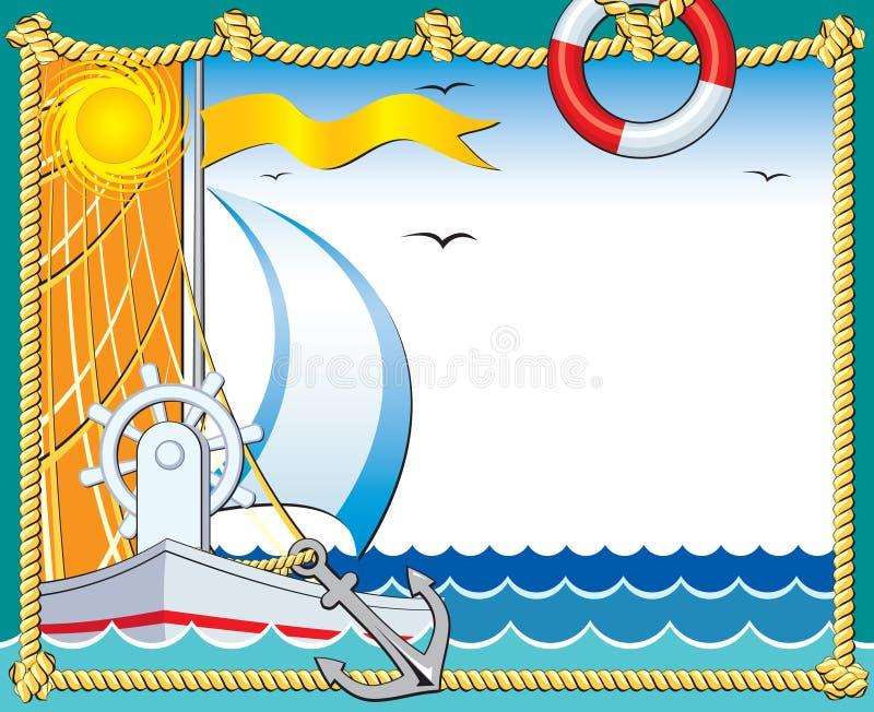 marin- photoframe stock illustrationer