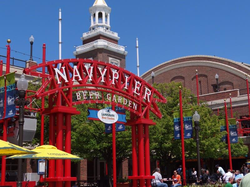 Marin Pier Beer Garden arkivfoton